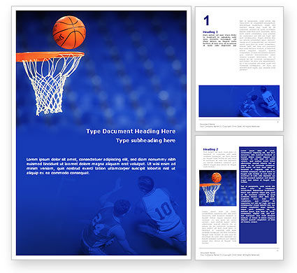 Basketball Match Word Template, 01816, Sports — PoweredTemplate.com