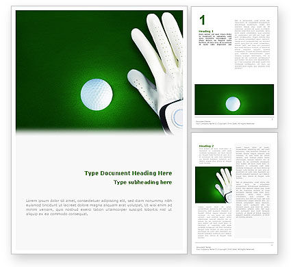 Sports: Golf Equipment Word Template #01820