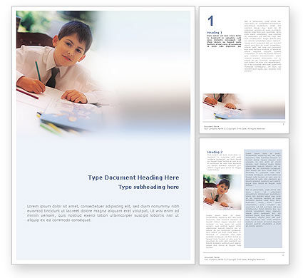Schoolboy Word Template, 01822, Education & Training — PoweredTemplate.com