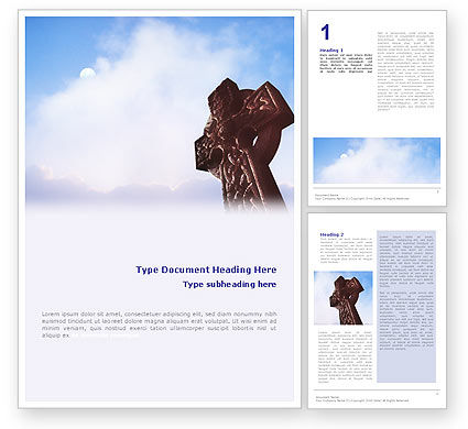 Religious/Spiritual: Celtic Cross Word Template #01825
