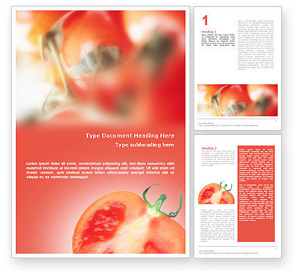 Agriculture and Animals: Tomato Word Template #01830