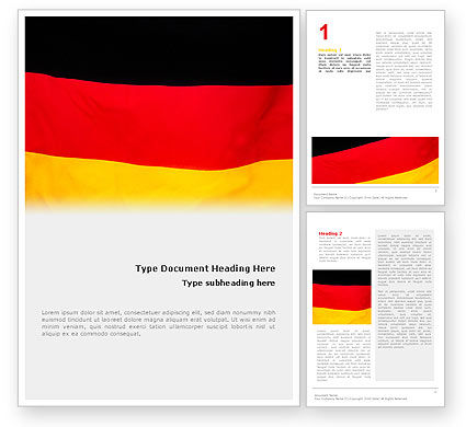 Flags/International: German Flag Word Template #01837