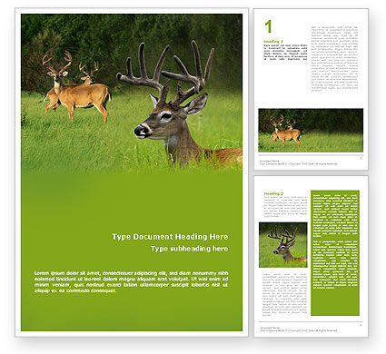 Nature & Environment: Deer Word Template #01838