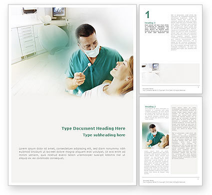 Medical: Dental Help Word Template #01840