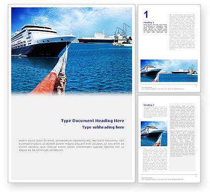 Liner Word Template, 01844, Cars/Transportation — PoweredTemplate.com