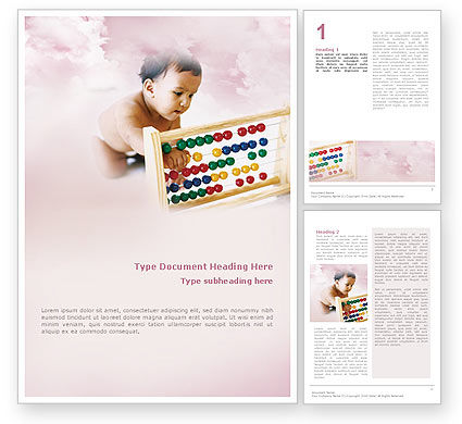 Education & Training: Leren Van De Baby Gratis Word Template #01845