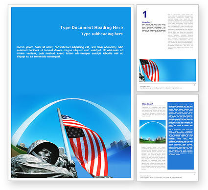 Holiday/Special Occasion: Gateway Arch Word Template #01872