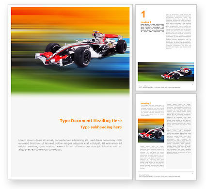 Sports: Formula One Word Template #01874