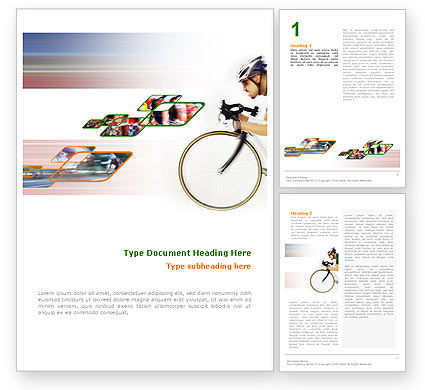 Sports: Tour de France Word Template #01895