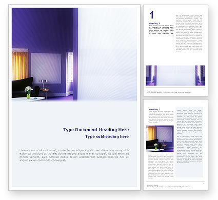 Consulting: Interior In Violet Word Template #01896