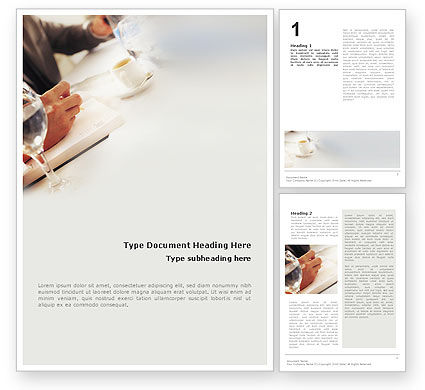 Business: Business Lunch Word Template #01900