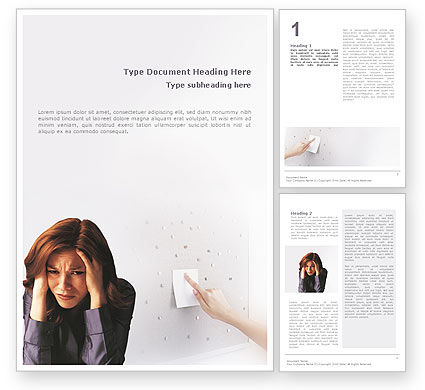 Stress Word Template, 01901, Medical — PoweredTemplate.com