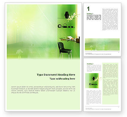 Private Place Word Template, 01912, Careers/Industry — PoweredTemplate.com