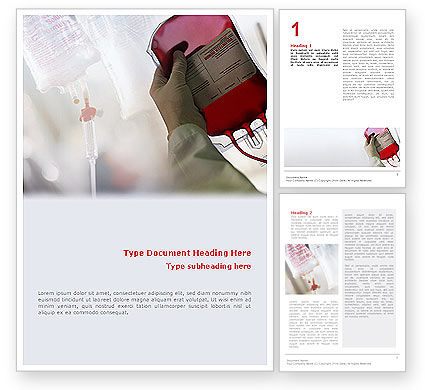 Medical: Blood Transfusion Word Template #01917