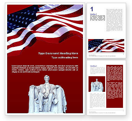 America: Abraham Lincoln Word Template #01918