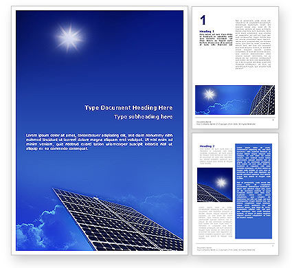 solar business plans templates