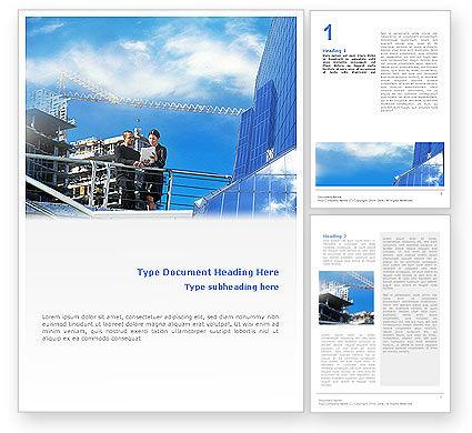 Business: Architekturen auf der baustelle Word Vorlage #01938