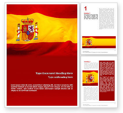 Flags/International: Spanische flagge Word Vorlage #01942