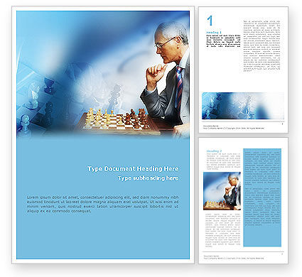 Chess Game Word Template, 01955, Sports — PoweredTemplate.com
