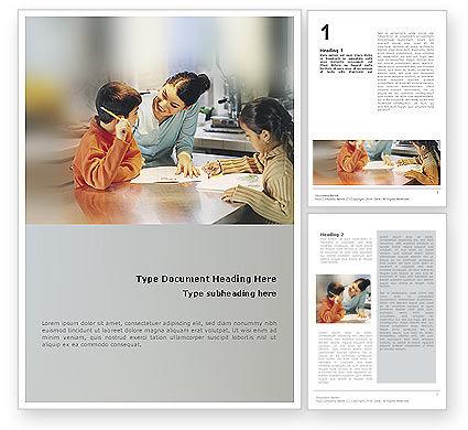 Education & Training: Kinder in der schöpfung Word Vorlage #01956