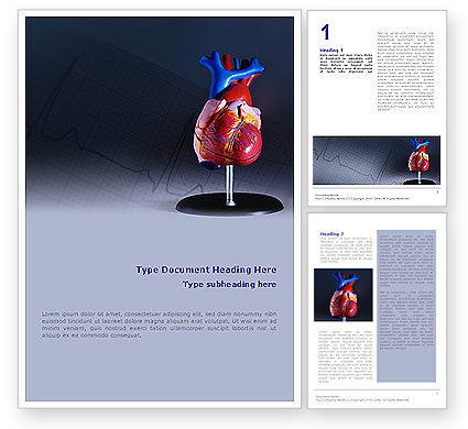Medical: Heart Model Word Template #01960