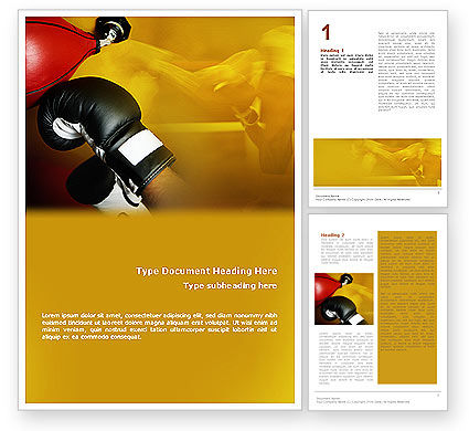 Boxing Training Word Template, 01965, Sports — PoweredTemplate.com
