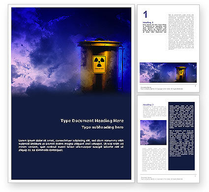 Nature & Environment: 무료 워드 템플릿 - 핵 폐기물 #01969