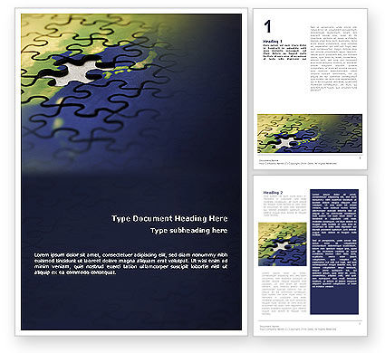 Business Concepts: Puzzle of World Word Template #01971