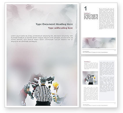 Sports: Ice Hockey Referee Word Template #01973
