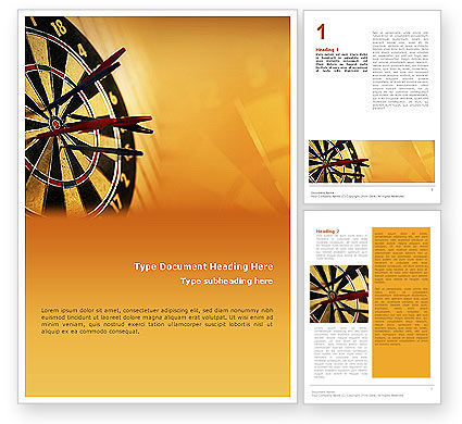 Darts Word Template, 01986, Business — PoweredTemplate.com