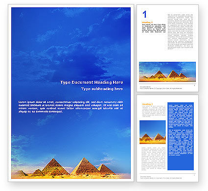 Art & Entertainment: Pyramids Word Template #01988