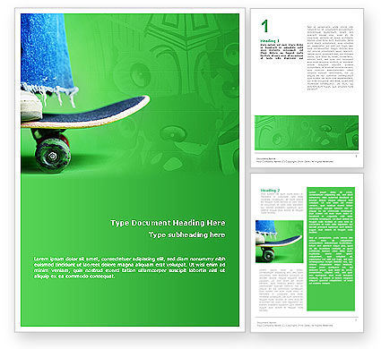 Skateboard Word Template, 01993, Sports — PoweredTemplate.com