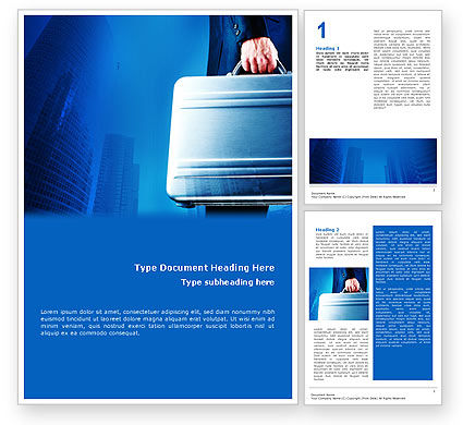 Business Concepts: Suitcase  Word Template #01996