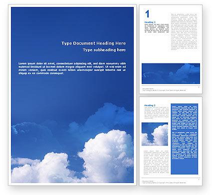 Nature & Environment: Bewölkter himmel Word Vorlage #02006