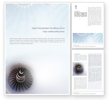 Turbojet Engine Word Template, 02008, Construction — PoweredTemplate.com