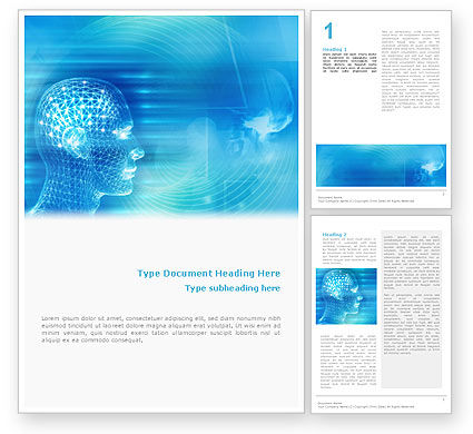 Technology, Science & Computers: 3D Head Model Word Template #02013