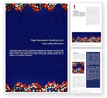 Molecular Modeling Word Template, 02019, Technology, Science & Computers — PoweredTemplate.com