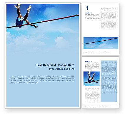 High Jump Word Template, 02020, Sports — PoweredTemplate.com