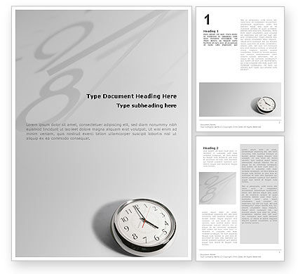 Consulting: Five O'clock Word Template #02024