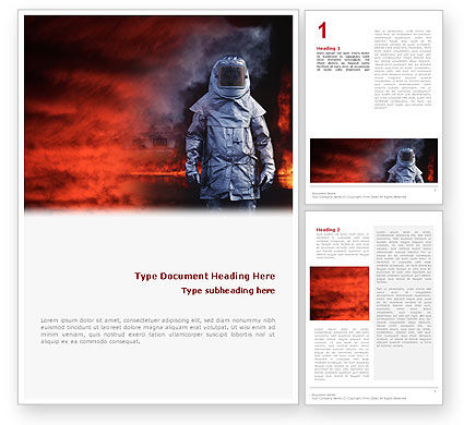 Nature & Environment: Deep Fire Word Template #02032