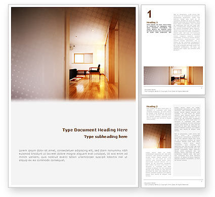 Apartment Design Word Template, 02035, Careers/Industry — PoweredTemplate.com