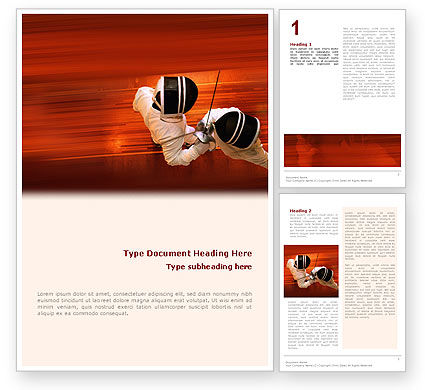 Sports: Fencing Word Template #02038