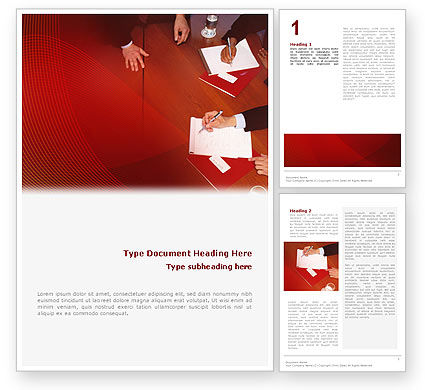 Briefing Word Template, 02048, Business — PoweredTemplate.com