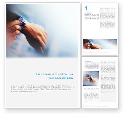 Hand Watch Word Template, 02060, Business Concepts — PoweredTemplate.com