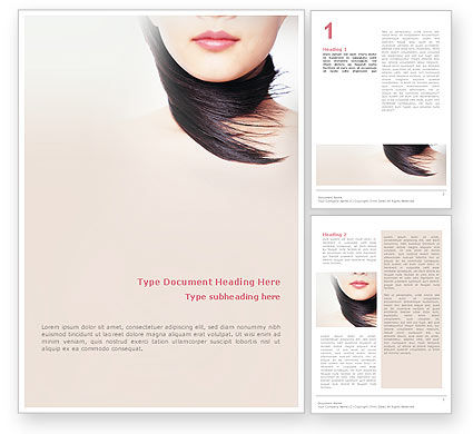 Beauty Word Template, 02061, Careers/Industry — PoweredTemplate.com