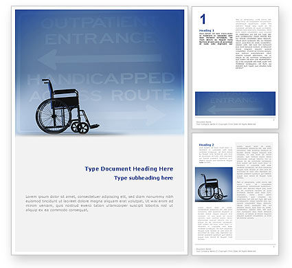 Medical: Handicapped Word Template #02064
