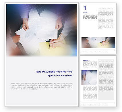 Business Documents Word Template, 02085, Business — PoweredTemplate.com