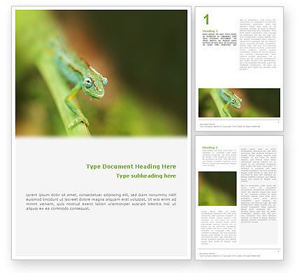 Agriculture and Animals: Chameleon Word Template #02101