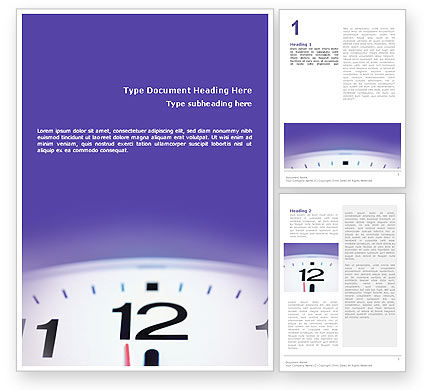 Business Concepts: Clock Word Template #02115