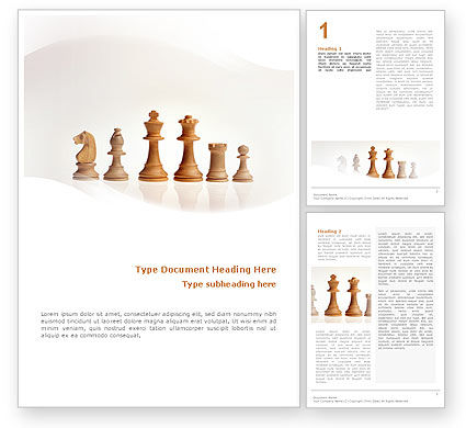 Business Concepts: Main Chess Figures Word Template #02120